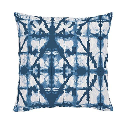 Carousel Designs-Indigo Blue Shibori Throw Pillow 20-Inch Square