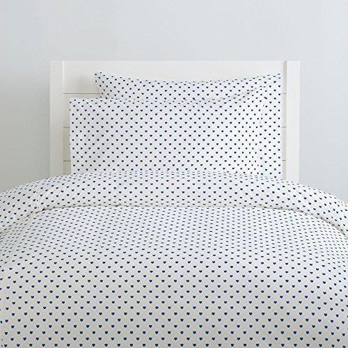 Carousel Designs-Ocean Blue Hearts Pillow Case
