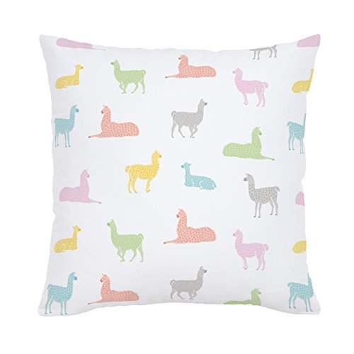 Carousel Designs-Saffron Llamas Throw Pillow 20-Inch Square