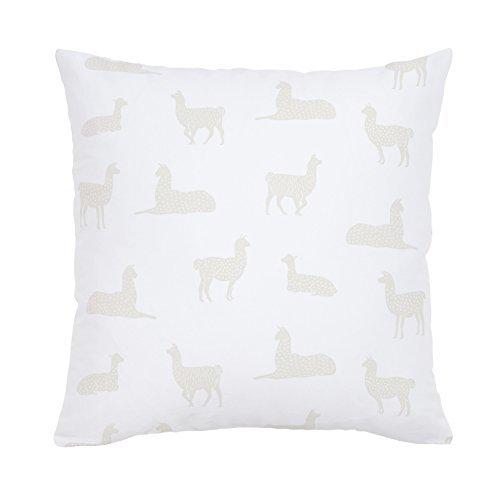 Carousel Designs-Saffron Llamas Throw Pillow 20-Inch Square