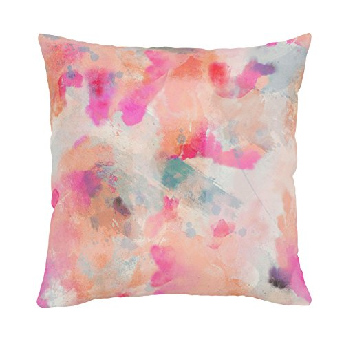 Carousel Designs-Coral Abstract Throw Pillow 20-Inch Square