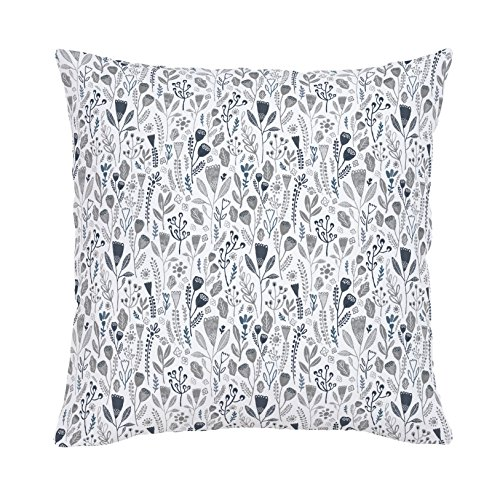 Carousel Designs-Blue Woodland Foliage Throw Pillow 20-Inch Square
