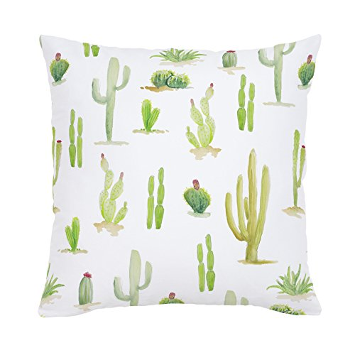 Carousel Designs-Watercolor Cactus Throw Pillow 20-Inch Square