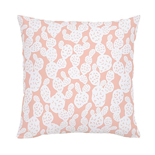 Carousel Designs-Peach Prickly Pear Throw Pillow 20-Inch Square Size