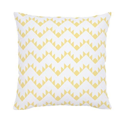 Carousel Designs-Carousel Designs Peach Aztec Zig Zag Throw Pillow 20-Inch
