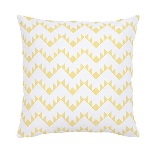 Carousel Designs-Carousel Designs Peach Aztec Zig Zag Throw Pillow 20-Inch
