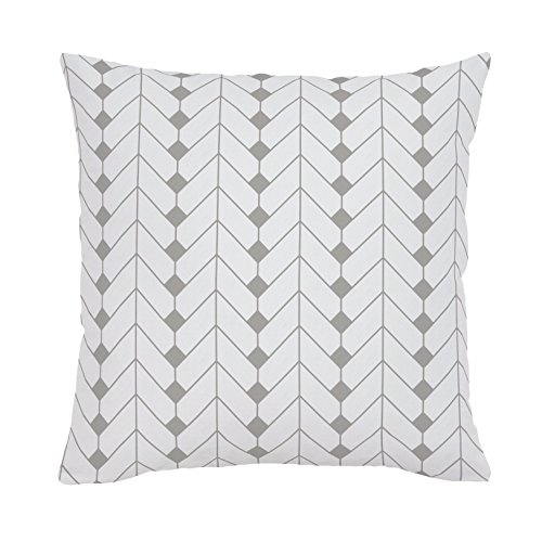 Carousel Designs-Silver Gray Diamond Herringbone Throw Pillow