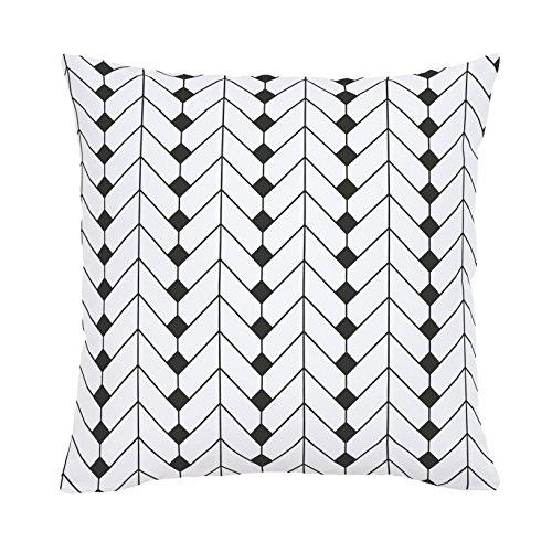 Carousel Designs-Carousel Designs Charcoal Diamond Herringbone Throw Pillow
