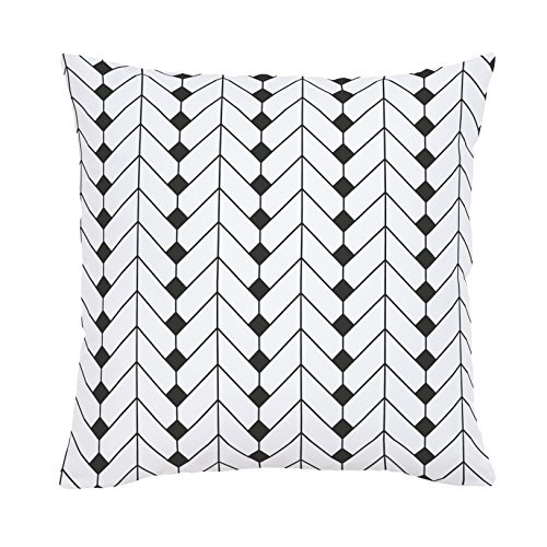 Carousel Designs-Carousel Designs Charcoal Diamond Herringbone Throw Pillow