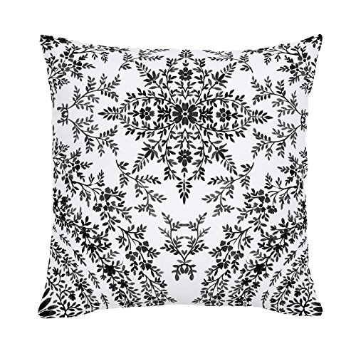 Carousel Designs-Carousel Designs Light Coral Floral Damask Throw Pillow 18-Inch