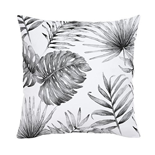 Carousel Designs-Gray Painted Tropical Throw Pillow 20-Inch