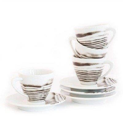 bambeco-4 piece Espresso Cup and Saucer Goode Grain
