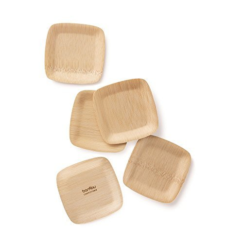 Bambu-Square Tasting  Plates - Pack of 24