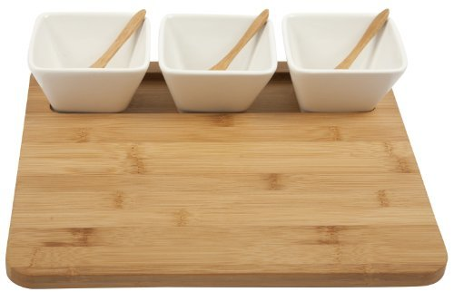 Core Bamboo-3-Part Square Entertainment Set