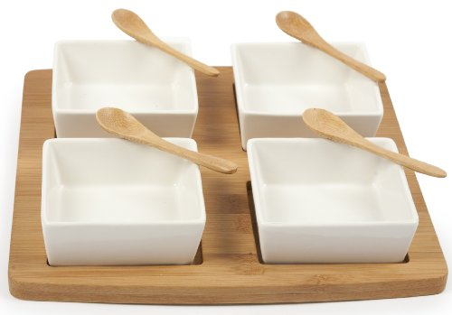 Core Bamboo-Perfectly Squared 4-Part Entertainment Set