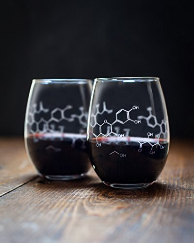 Cognitive Surplus-Wine Chemistry Stemless Wine Glasses - Set of 2