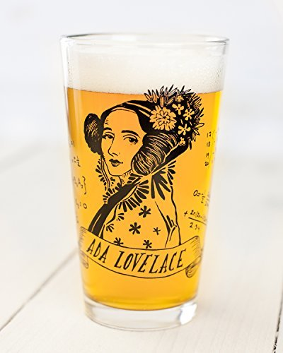 Cognitive Surplus-Heroes of Science: Ada Lovelace Pint Glass