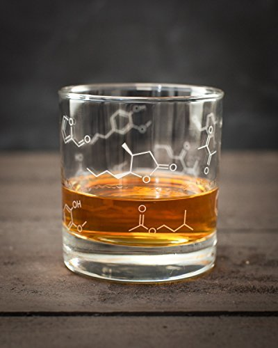 Cognitive Surplus-Whiskey Chemistry Lowball Rocks Glass - Set of 2