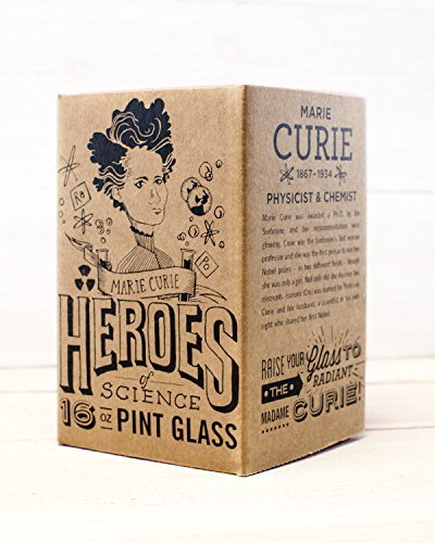 Cognitive Surplus- Heroes of Science: Marie Curie Pint Glass
