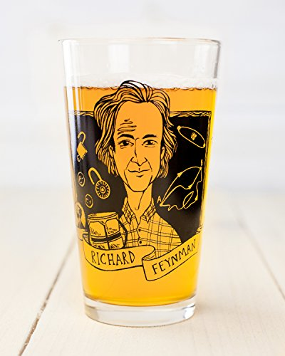 Cognitive Surplus-Heroes of Science: Richard Feynman Pint Glass