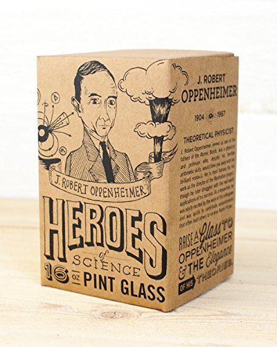 Cognitive Surplus-Heroes of Science: J. Robert Oppenheimer Pint Glass