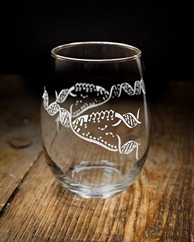 Cognitive Surplus-DNA Replication Stemless Wine Glasses - Set of 2