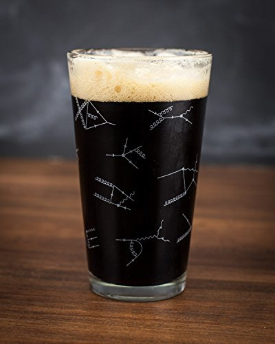 Cognitive Surplus-Cognitive Surplus Feynman Diagrams Particle Physics Pint Glass
