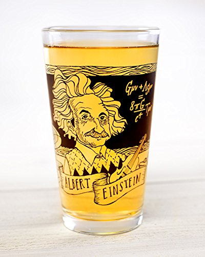 Cognitive Surplus-Heroes of Science: Albert Einstein Pint Glass
