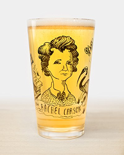 Cognitive Surplus-Heroes of Science: Rachel Carson Pint Glass