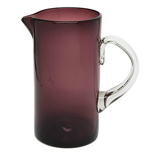 NOVICA- Handblown Recycled Glass Pitcher - Purple