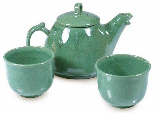 NOVICA-Hand Crafted Serveware Ceramic Tea Set for 2