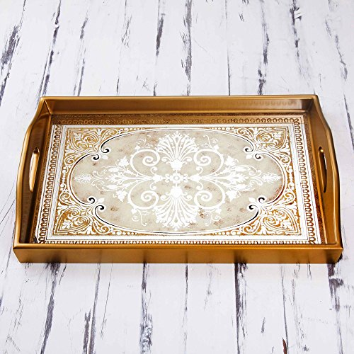 NOVICA- Floral Glass Tray
