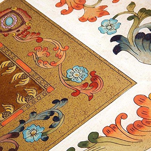 NOVICA-Multicolor Glass Floral Tray - Floral Citadel