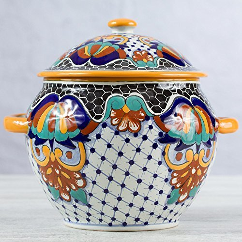 NOVICA-Multicolor Floral Ceramic Tureen - Zacatlan Flowers
