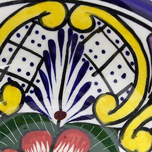 NOVICA- Set of 4 Multicolor Floral Ceramic Bowls