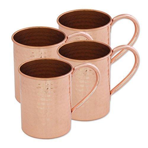 NOVICA-Set of 4 Metallic Decorative Copper Mugs
