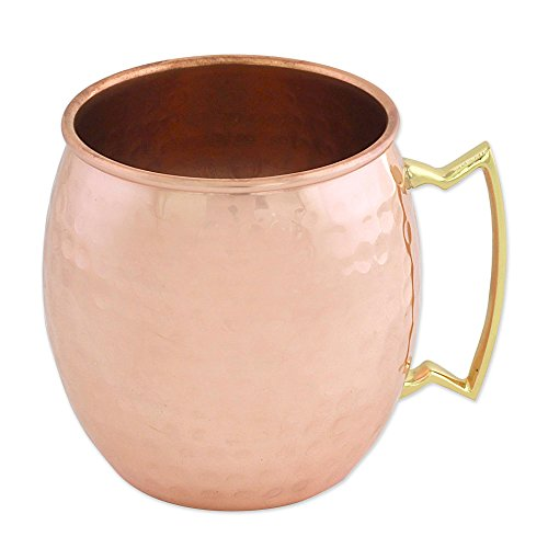 NOVICA-Metallic Copper Cocktail Mugs