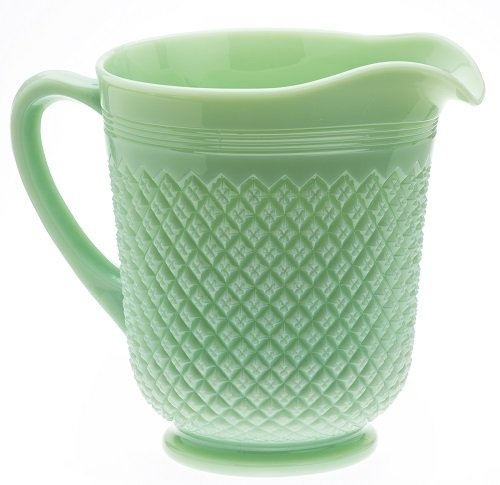 Rosso Glass-Addison Pattern Mosser Glass - Jade
