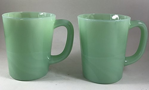 Rosso Glass-Glass Coffee Mug - USA - American Made - Mosser Glass (2, Jadeite Green)
