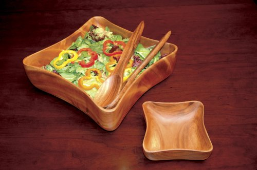Pacific Merchants Trading-Acacia Wood Oval Baguette Serving Tray