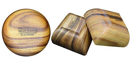 Pacific Merchants Trading-Acacia Wood Round Calabash Serving Bowl