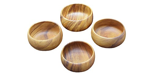 Pacific Merchants Trading-Acacia Wood Round Calabash Serving Bowl