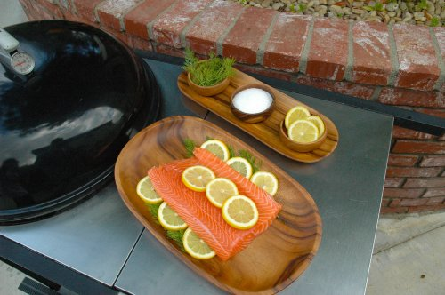 Pacific Merchants Trading-2-Inch Acacia Wood 3-Part Divided Serving Tray