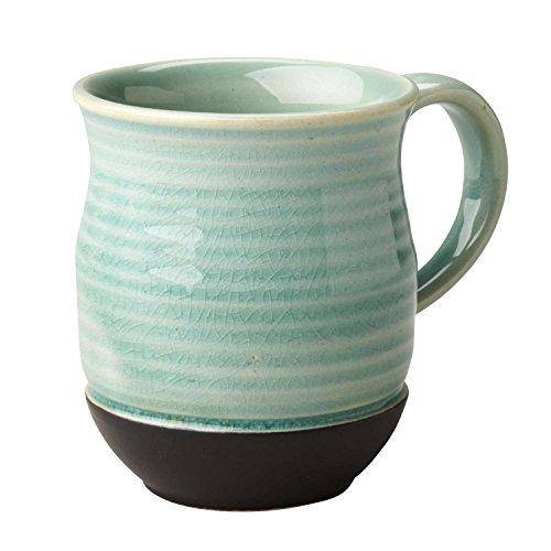 Ten Thousand Villages-Microwave Safe Ceramic Coffee Cup 'Blue Waters Mug'