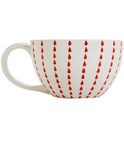Ten Thousand Villages-Large Hand Painted Cup 'Lucky Rains Oversized Cappuccino Mug'