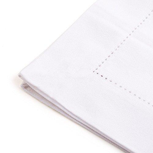 All Cotton and Linen-Set of 6  Cloth napkins cotton Hemstitch Dinner Napkins