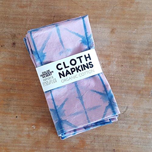 Chloe Derderian Gilbert-Organic Hand Dyed Shibori Cloth Napkins in Quebracho and Indigo