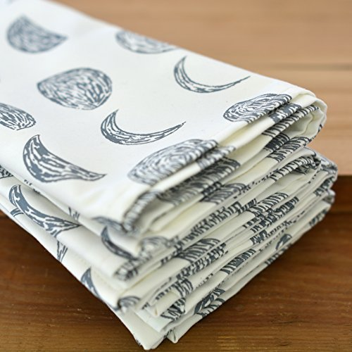 Chloe Derderian Gilbert-Organic Cotton Moon Phase Pattern Cloth Napkins
