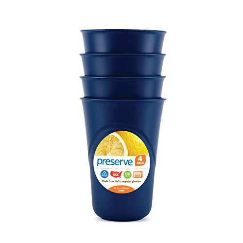 Preserve-Set of 4 Everyday 16 Ounce Cups - Blue
