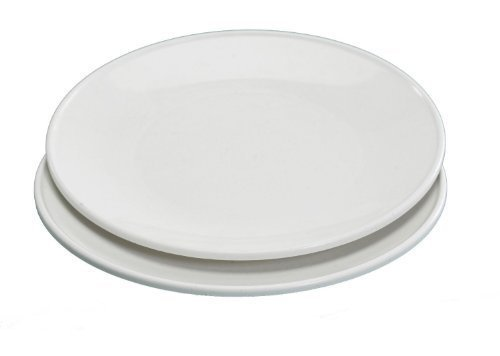 Nordic Ware- Set of 2 Microwave Everyday Dinner Plates - White